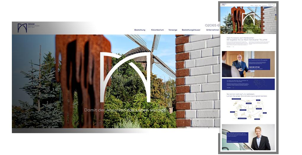Collage Webseite Bestattungen Menge